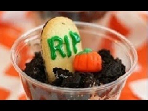 how to make halloween graveyard pudding cups halloween six
