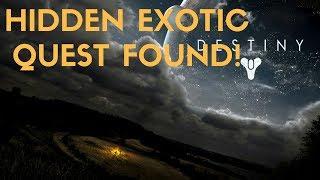 Destiny 2 - Hidden Exotic Quest Found!