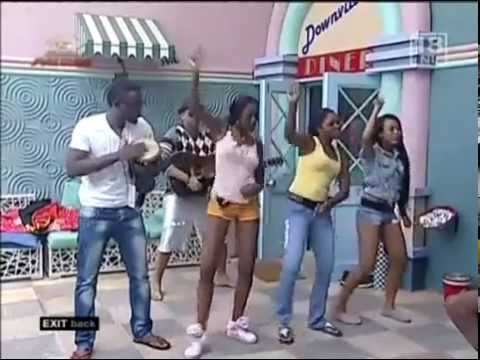 Eazzy teaches Big Brother Africa StarGame housemates to Dance AZONTO.flv
