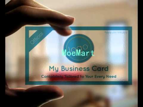 Transparent business cardtransparent pvc business card youtube transparent business cardtransparent pvc business card colourmoves