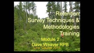 Module 2: Retention Survey Techniques & Methodologies Training Part 1
