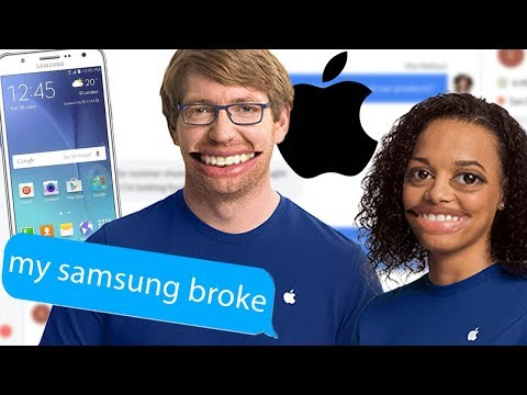 Asking Apple Support About SAMSUNG Products