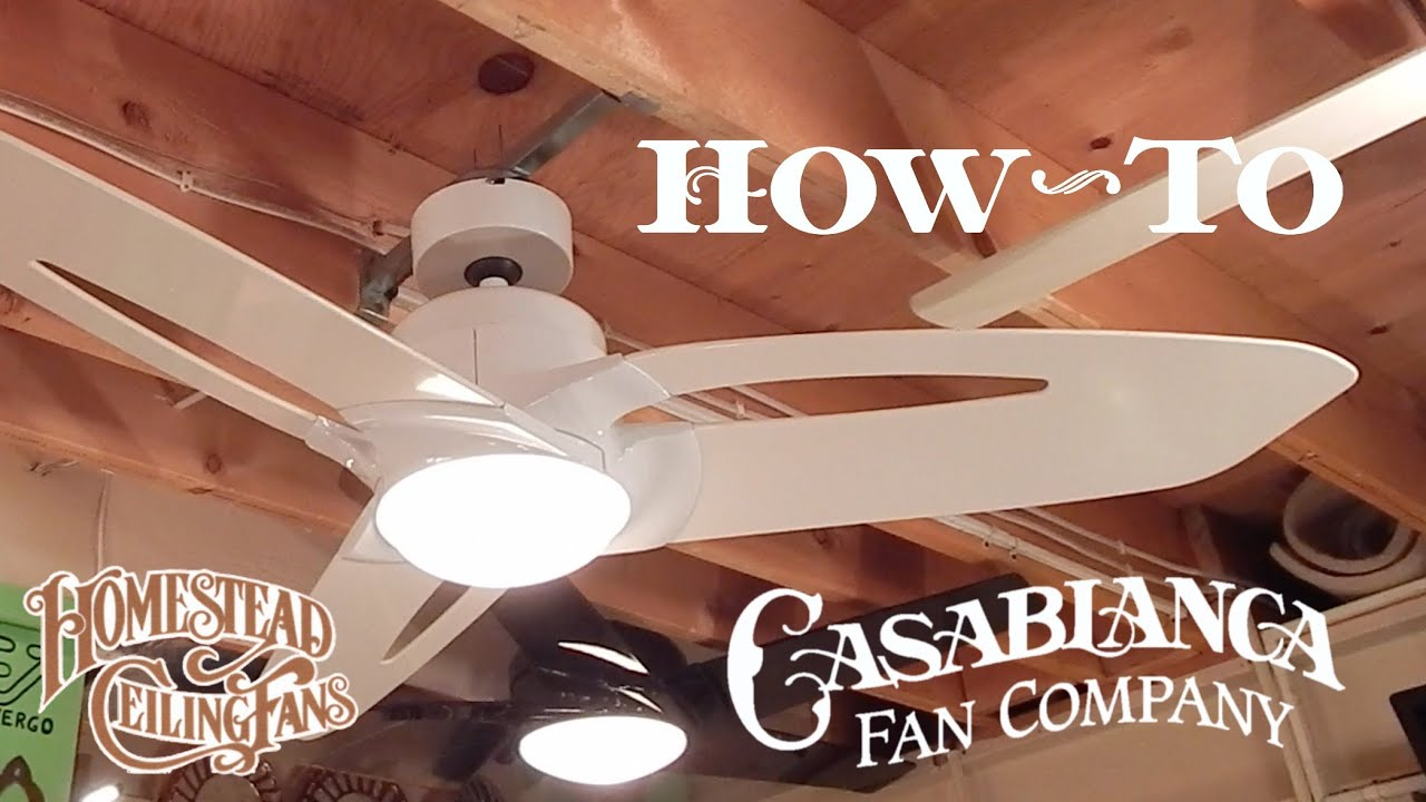 How to install a ceiling fan casablancahomestead starstarlet how to install a ceiling fan casablancahomestead starstarlet youtube swarovskicordoba Gallery