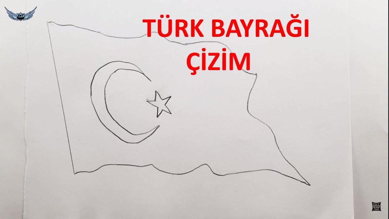 Dalgali Turk Bayragi Nasil Cizilir 29 Ekim Ozel 10 Youtube