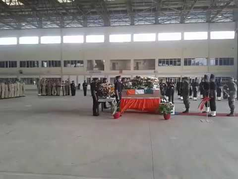 Last respects paid to Major Akshay Girish Kumar at Yelahanka IAF Base in Bengaluru