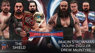 WWE 2K19 Super Show-Down 2018 - The Shield vs Braun Strowman, Dolph Ziggler & Drew McIntyre!