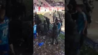 Rangelei zwischen Nordhäuser Fans und Polizei beim Thüringenpokal