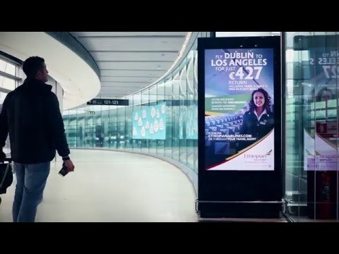 Ethiopian Airlines Advertising at Dublin Airport