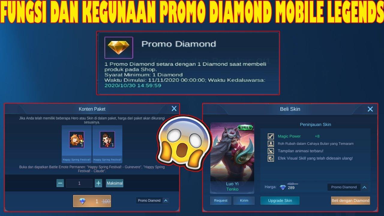 Fungsi Dan Cara Menggunakan Item Promo Diamond Mobile Legends Youtube