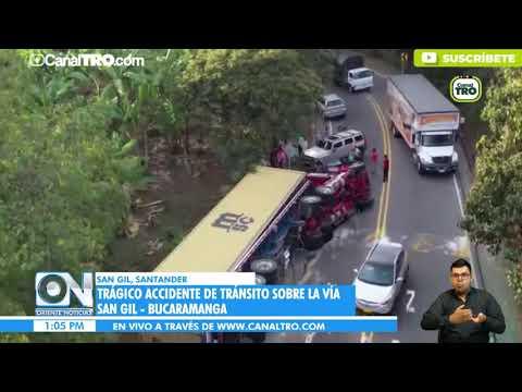 Trágico Accidente De Tránsito Sobre La Vía San Gil - Bucaramanga