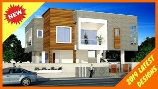 30 Beautiful Modern House Front Elevation Designs 2019  | Double Floor  Plan N Design