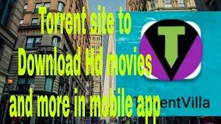 Torrent download HD movies in mobile app (Torrent Villa)