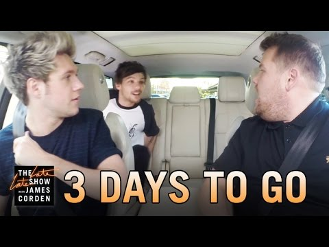One Direction Carpool Karaoke: 3 Days to Go