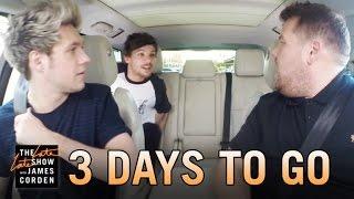 One Direction Carpool Karaoke: 3 Days to Go