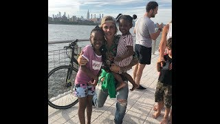 Justin Bieber with Hailey Baldwin & little kids fans at Domino Park in Williamsburg - June 16, 2018