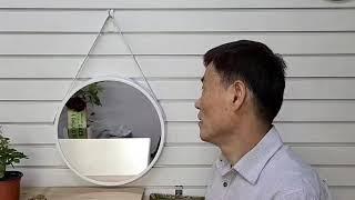 골든벨시계산업 메탈 가죽 벽거울 www.goldenbe…
