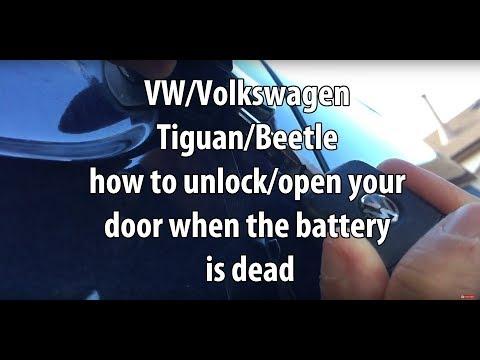 VW/Volkswagen Tiguan/Beetle how to unlock/open your door when the battery/remote key fob is dead