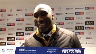 Sol Speaks To The Media After Tranmere Draw