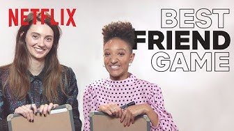 The Best Friend Game with Sex Education's Tanya Reynolds and Patricia Allison   Netflix