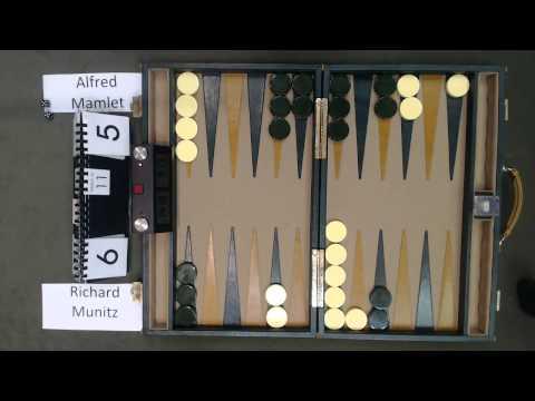 Carolina Backgammon QCC Q1 Richard Munitz v Alfred Mamlet