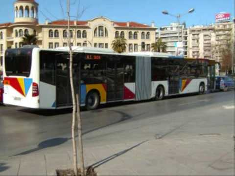 URBAN BUSSES IN THESSALONIKI & ATHENS GREECE (in the highway)