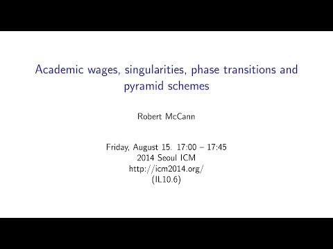 ICM2014 VideoSeries IL10.6: Robert McCann on Aug15Fri