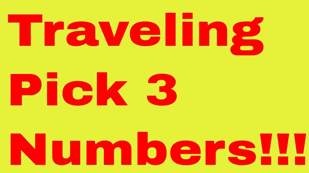 April 3, 2019-Traveling Pick 3 Numbers!!!