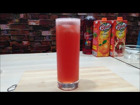 Grenadine Twister Mocktail || How To Make || The Mocktail House