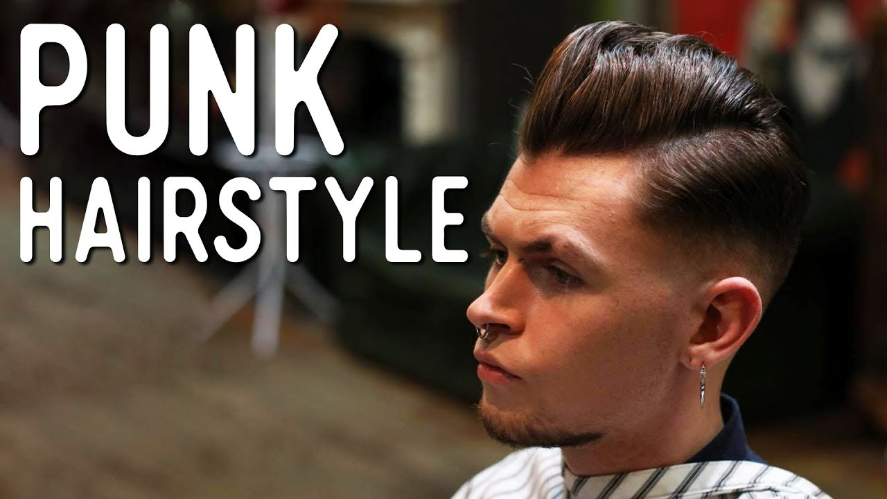 Haircut Tutorial Punk Style Pompadour Youtube