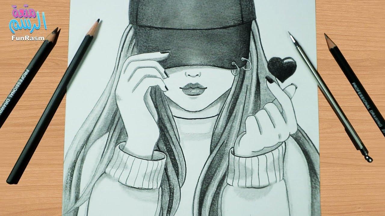 جملة او حكم على عنوان نسبه مئويه رسم بالرصاص بنات تلبس النظارة