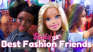 Unbox Daily: Barbie 28 Inch Best Fashion Friend Doll PLUS Mix & Match Clothes