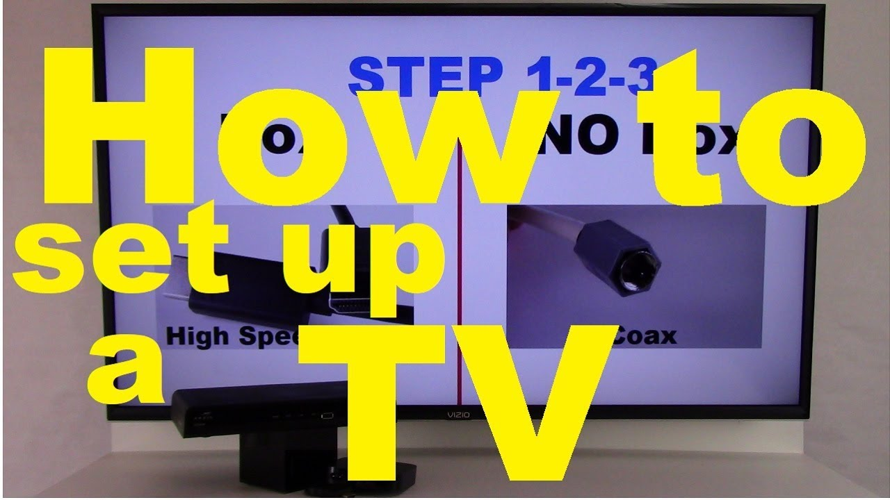 How to set up a TV