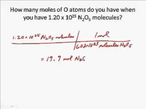Moles with compounds and formula units