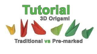 How to make 3d origami modules 1/32