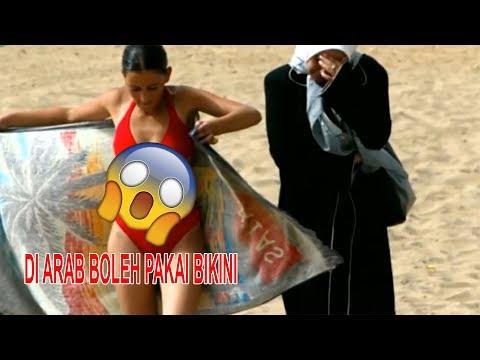 TERLANJUR VIRAL!! WANITA ARAB BERBIKINI RIA DI PANTAI - PERATURAN ARAB SAUDI TERBARU 2018