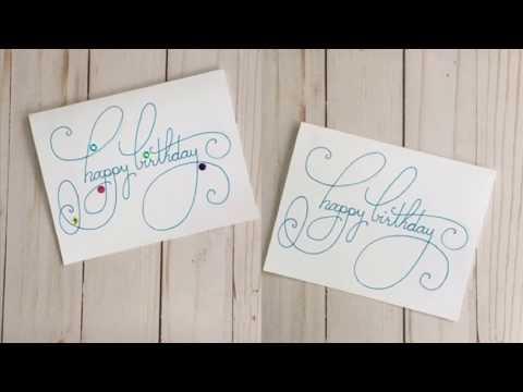 Simple Handmade Happy Birthday Card - 2 versions | DIY Happy Birthday Card | Design. Draw. Create.
