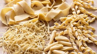 How To Make Pasta Shapes At Home (e.g. Tagliatelle, Fusilli, Farfalle)
