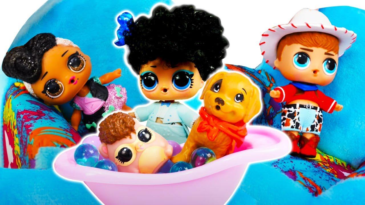 Игры для девочек: Куклы ЛоЛ устроили потоп на кухне! Игры с питомцами ЛоЛ и распродажа нарядов lol!