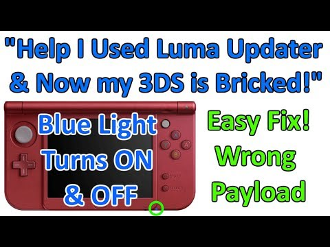 Help! My 3DS Blue Light Turns ON & OFF - I Used Luma Updater