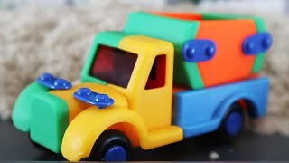 Мультик про машинки Машины и трактора для детей Собираем грузовики