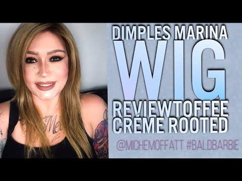 WIG REVIEW Dimples MARINA (TOFFEE CREME ROOTED 18/2-16R2) | ALOPECIA |WIG WEDNESDAY | HUMAN HAIR WIG