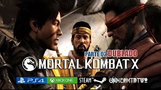Mortal Kombat X DUBLADO FILME Parte 02 / Todas as Cutscenes Cinematic HD PS4, XBOXone, PC!