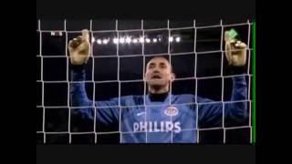 PSV penalty reeks  tegen tottenham (Gomes)
