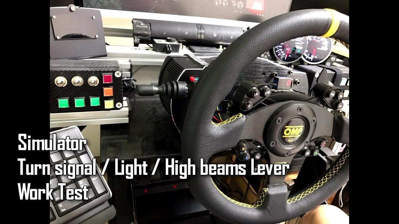Pc Simulator Turn Signal Light High Beams Lever