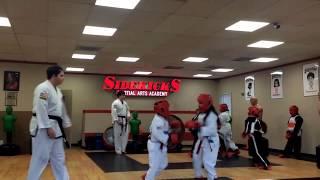 Kids Martial Arts Class Video - Sparring Practice @ Sidekicks San Diego (May 2018)