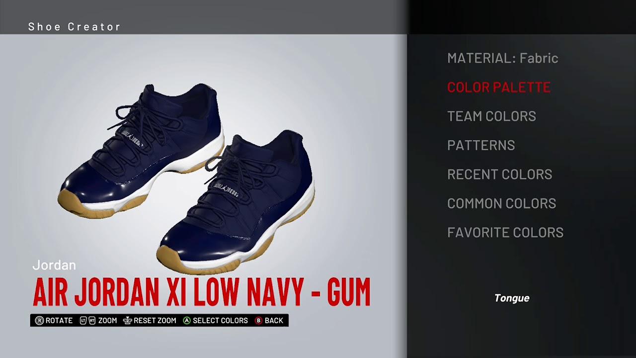 ab97cab782e0 NBA 2K19 Shoe Creator - Air Jordan 11 Low
