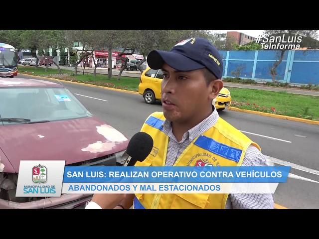 OPERATIVO CONTRA VEHÍCULOS ABANDONADOS Y MAL ESTACIONADOS