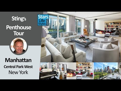Sting's Manhattan Penthouse Tour | Central Park West, New York | $56 Million | Celebrity House
