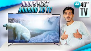 Motorola ZX2 40 quot TV Unboxing amp Initial Impressions 1ST ANDROID 10 TV IN INDIA