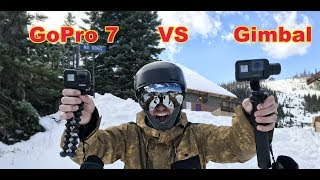 Is the GoPro 7 The Gimbal Killer?? Gimbal VS GoPro 7!! - (Snowboarding) #snowboarding #gopro